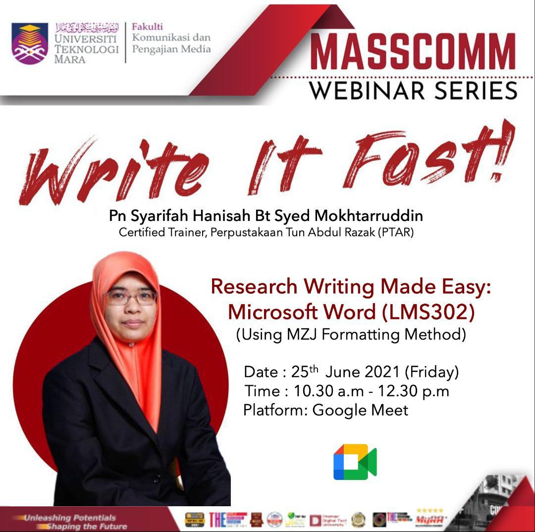 Write it Fast